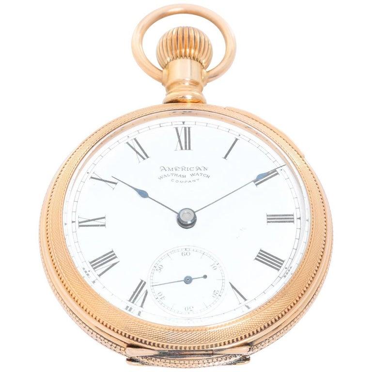 American Watch Co. Waltham Yellow Gold Manual Wind Pocket Watch