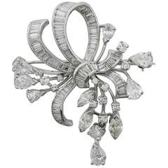 1940s Diamond Brooch and Pendant