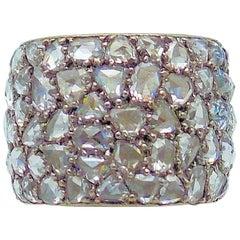 18 Karat White Gold Fred Leighton Diamond Band