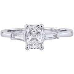 H & H 1.00 Carat Diamond Engagement Ring
