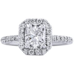 H & H 1.05 Carat Diamond Engagement Ring