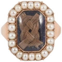 English Memorial Ring circa 1810