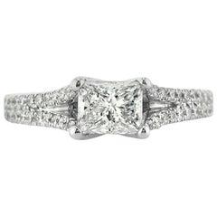 Mark Broumand 1.57 Carat Princess Cut Diamond Engagement Ring