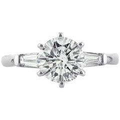 Mark Broumand 1.91 Carat Round Brilliant Cut Diamond Engagement Ring