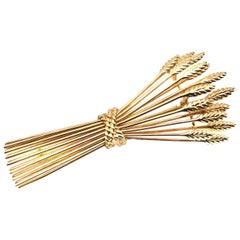 Tiffany & Co. Gold Wheat Sheaf Brooch