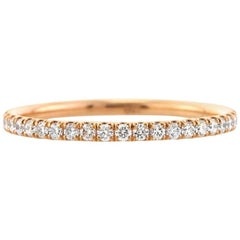 Mark Broumand 0.50ct Round Brilliant Cut Diamond Eternity Band in 18k Rose Gold