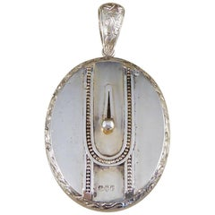 Antique Victorian Engraved Silver Locket
