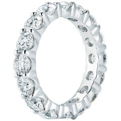 Diamond Eternity Ring in 18 Karat White Gold 4.61 Carat Total