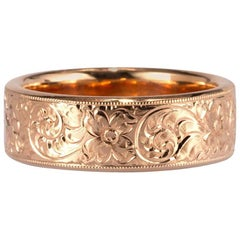 Mark Broumand Ladies Handcrafted Wedding Band in 18 Karat Rose Gold