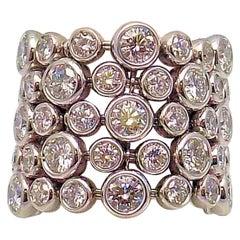 Flexible Diamond Band in 18 Karat and 14 Karat White Gold