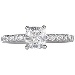 Mark Broumand 1.45 Carat Cushion Cut Diamond Engagement Ring