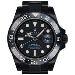 Rolex Stainless Steel DLC PVD Bamford Blacked Out Automatic Wristwatch