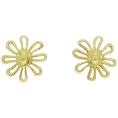 18 Karat Gold Tiffany & Co. Paloma Picasso Daisy Earrings