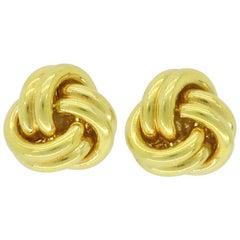 18 Karat Tiffany & Co. Knot Earrings
