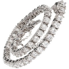 5.17 Carat Brilliant Cut Diamonds Diamond Platinum Tennis Bracelet