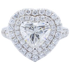 David Rosenberg 2.01 Carat Heart Shape G/SI2 GIA Diamond Engagement Ring