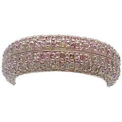 Pair of Platinum Pave' Diamond Eternity Bands by Matthew Trent