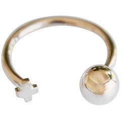 Stackable Love Ring Ball Cross Adjustable Bronze J Dauphin