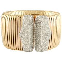 CT 12,20 Diamond and gr 133,3 Gold Cuff bracelet