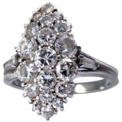 Diamond Cluster Engagement Ring Band