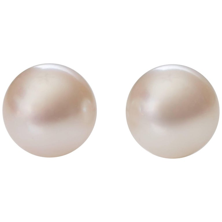 Tiffany & Co. Pearl and 18 Karat White Gold Earrings