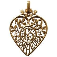 Edwardian Lucky 'Bonheur' Charm