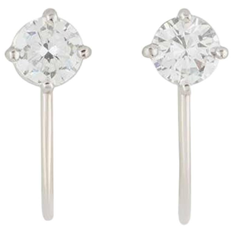 Tiffany & Co. Platinum Diamond Earrings