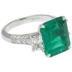 Vivid Green Muzo Colombian Emerald Ring