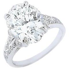 5.03 Carat GIA Certified Oval Diamond L VS1
