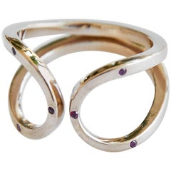 Love Ring with Ruby Infinity Band