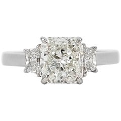 GIA Certified 2.02 Carat Radiant Diamond Ring