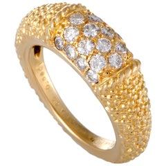 Van Cleef & Arpels Diamond Yellow Gold Band Ring