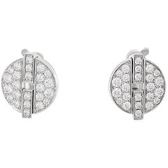 Cartier Large Himalia White Gold Earrings