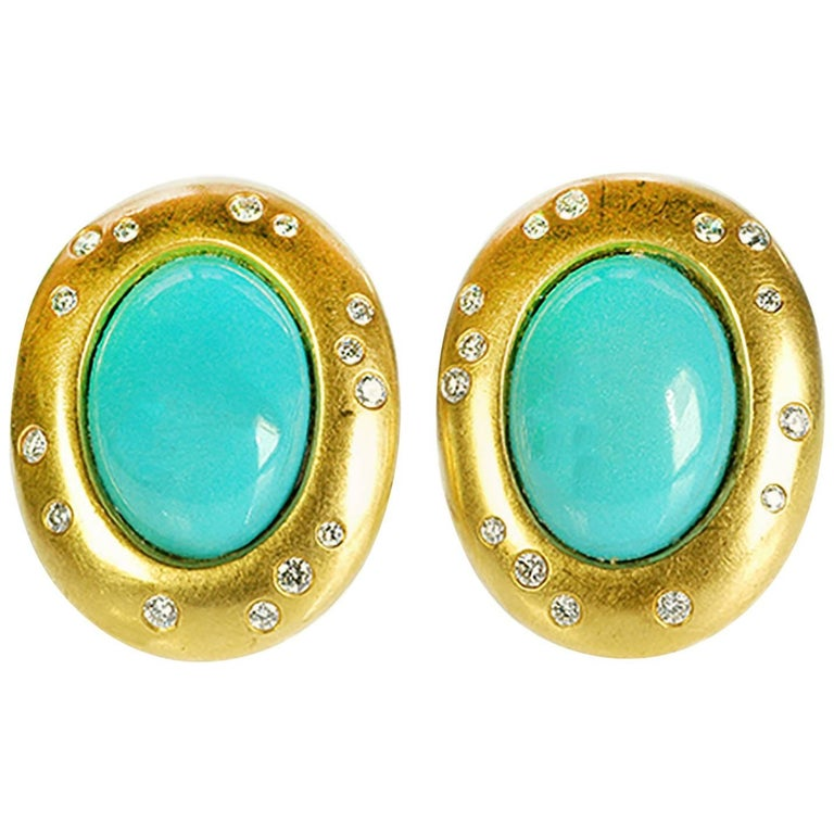 Angela Cummings for Tiffany & Co. Turquoise Earclips