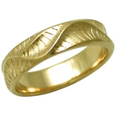 Band Ring for Men's in 18 Karat Yellow Gold