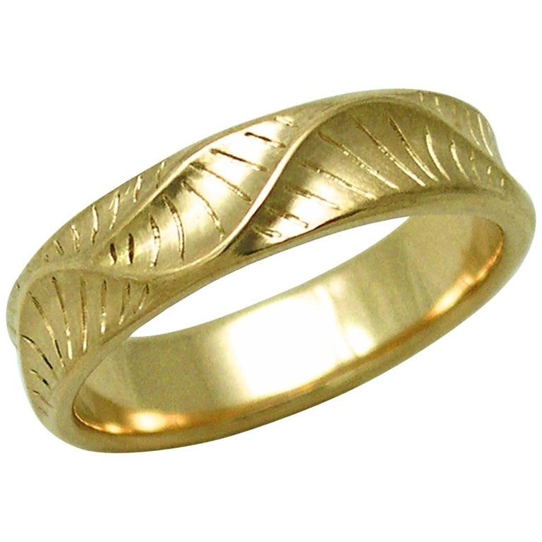 Band Ring for Men's in 18 Karat Yellow Gold For Sale