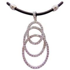 Diamond Enhancer on Black Leather Collar