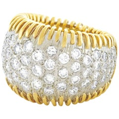 Hammerman Brothers Diamond Pave Gold Ring