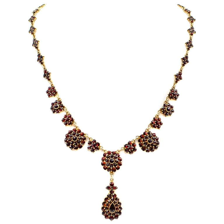 Garnet Pendant Necklace
