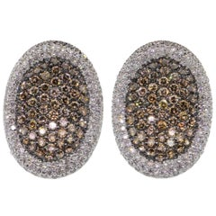 Natural Cognac Color Diamonds Earrings