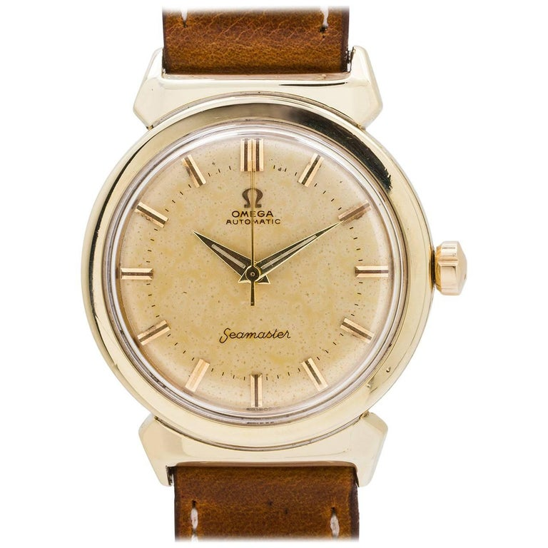 Omega Gold Shell stainless steel Seamaster Automatic wristwatch, circa 1956
