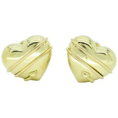 18 Karat Yellow Gold Tiffany & Co. Cupid Earrings