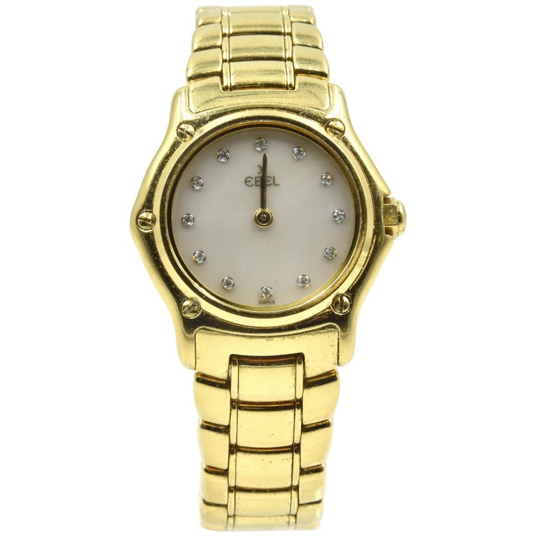 Ebel Ladies Yellow Gold Sport Classic quartz Wristwatch Ref 1911