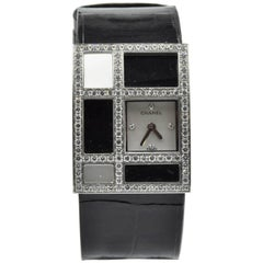 "Chanel Ladies white Gold Diamond mother of pearl ""1932"" quartz Wristwatch"