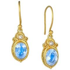 Kimarie Ethiopian Opal with Diamond Earrings