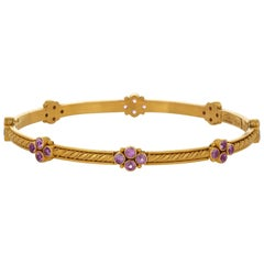 Carolyn Tyler Gold and Pink Sapphire Bracelet