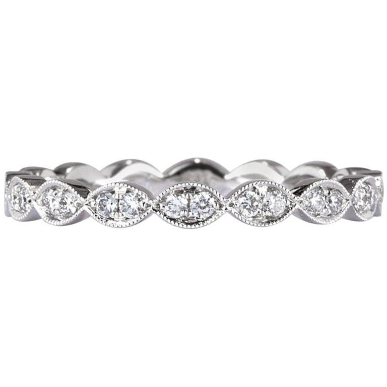 Mark Broumand 0.35ct Round Brilliant Cut Diamond Eternity Band in 18k Rose Gold