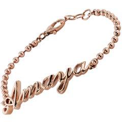 14 Karat Rose Gold Custom Name Bracelet