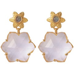 Emma Chapman Crystal Labradorite Gold Plate Earrings