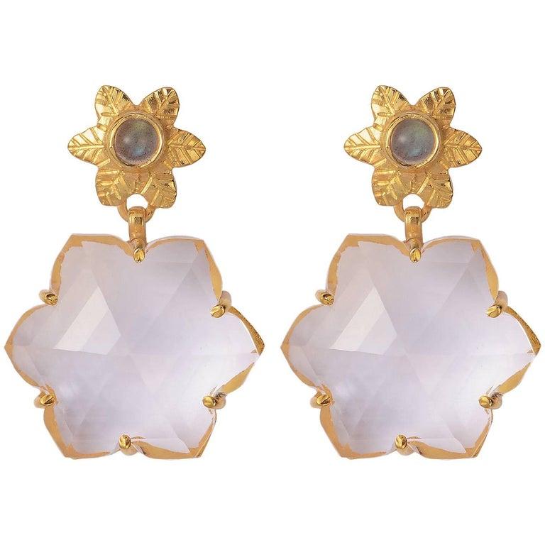 Emma Chapman Crystal Gold Plate Earrings
